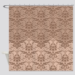 Two Tone Damask - Sandstone Shower Curtain