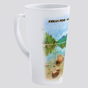 Jordan Pond - Acadia National Park 17 oz Latte Mug