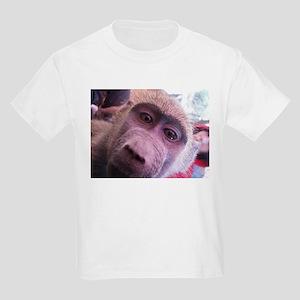 Baby Baboon on Kids Light T-Shirt