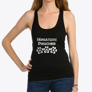 Miniature Pinscher Mom Racerback Tank Top