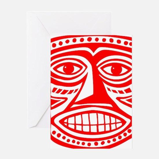 Tiki Mask 02 Greeting Card