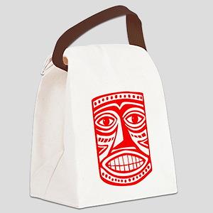 Tiki Mask 02 Canvas Lunch Bag