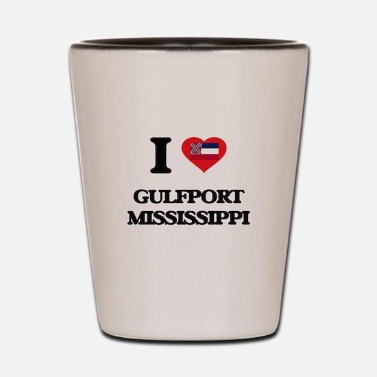 I love Gulfport Mississippi Shot Glass