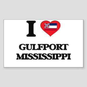 I love Gulfport Mississippi Sticker