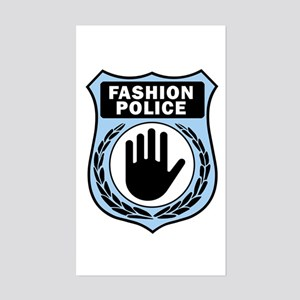 Fashion Police Uniform Rectangle Sticker