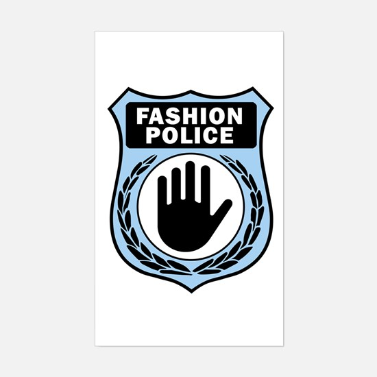 Fashion Police Uniform Rectangle Decal
