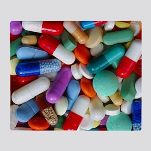 pills drugs Throw Blanket