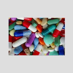 pills drugs Rectangle Magnet