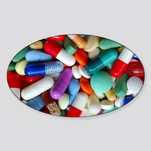 pills drugs Sticker (Oval)