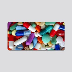 pills drugs Aluminum License Plate