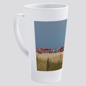 Cape May, NJ Beach Umbrellas 17 oz Latte Mug