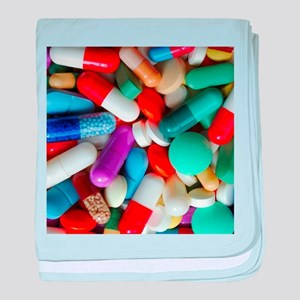 pills drugs baby blanket