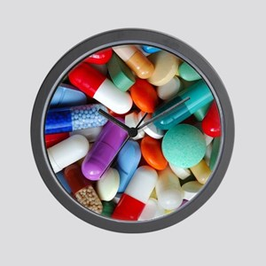 pills drugs Wall Clock