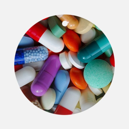 pills drugs Ornament (Round)