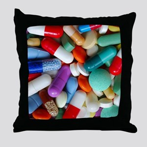 pills drugs Throw Pillow