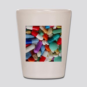 pills drugs Shot Glass