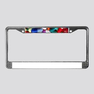 pills drugs License Plate Frame