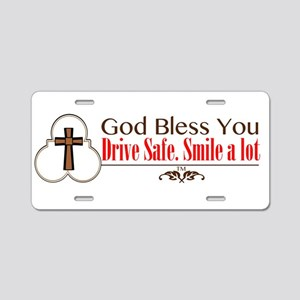 Drive Safe Aluminum License Plate