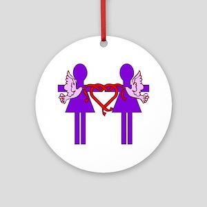 Same Sex Marriage Female Ornament (Round)