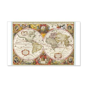 World map wall decals cafepress gumiabroncs Image collections