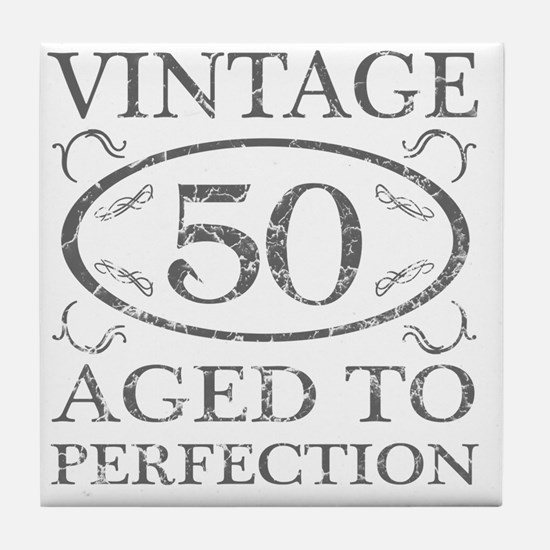 50th Birthday Vintage Tile Coaster