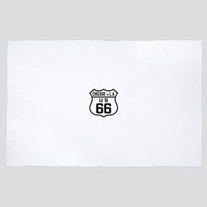 US Route 66 Chicago to L.A. 4' x 6' Rug