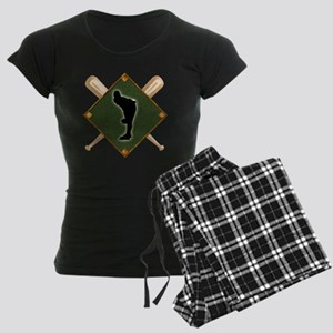 Baseball Diamond with Crosse Women's Dark Pajamas