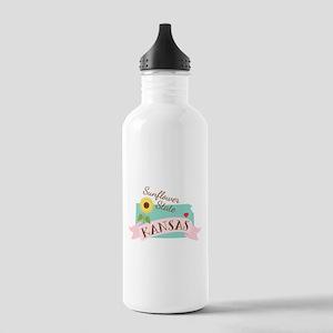 Kansas State Outline Sunflower Water Bottle