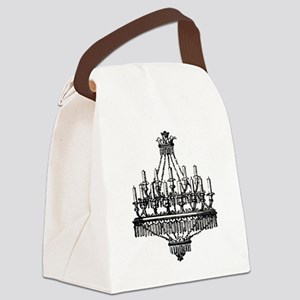 Vintage Chandelier Canvas Lunch Bag