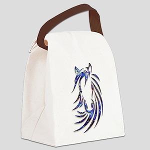 Magical Mystical Horse Portrait Canvas Lunch Bag