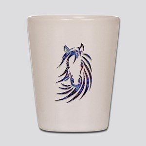 Magical Mystical Horse Portrait Shot Glass
