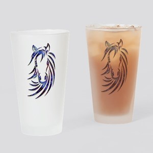 Magical Mystical Horse Portrait Drinking Glass