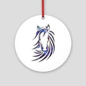 Magical Mystical Horse Portrait Ornament (Round)