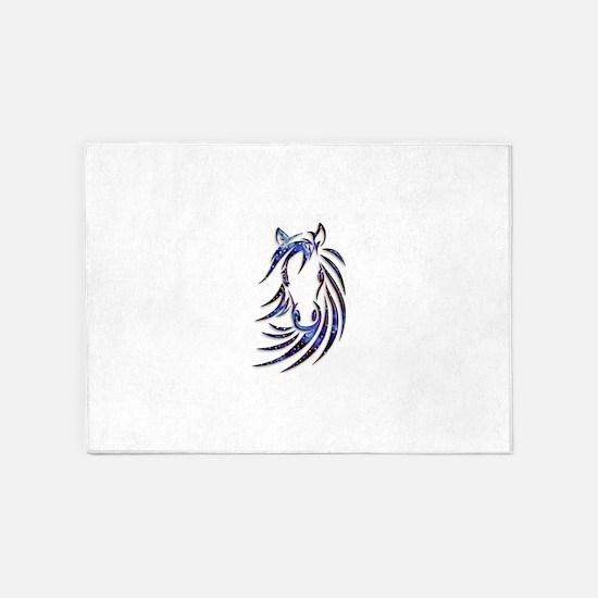 Magical Mystical Horse Portrait 5'x7'Area Rug