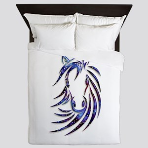 Magical Mystical Horse Portrait Queen Duvet