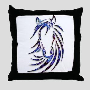 Magical Mystical Horse Portrait Throw Pillow