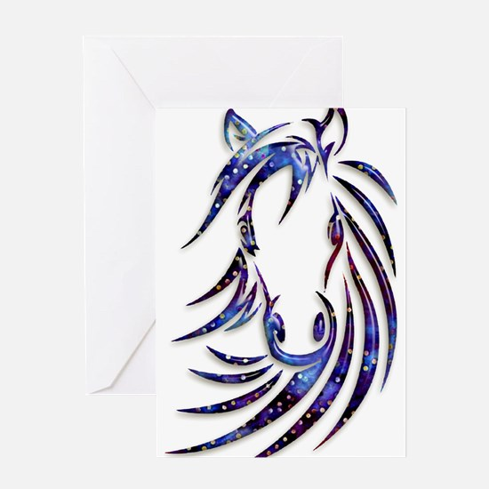 Magical Mystical Horse Portrait Greeting Cards