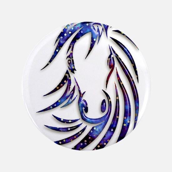 Magical Mystical Horse Portrait Button