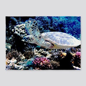 Sea Turtle 5'x7'Area Rug