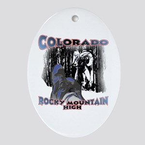 Colorado , Rocky Mountain Hig Oval Ornament