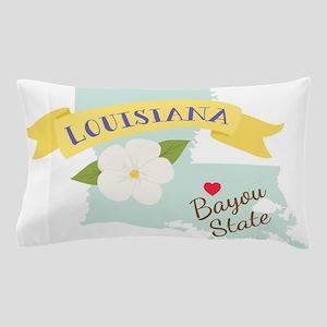 Louisiana Bayou State Outline Magnolia Flower Pill
