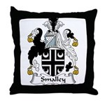Smalley Family Crest Throw Pillow