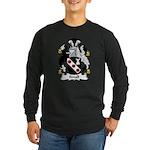 Small Family Crest Long Sleeve Dark T-Shirt