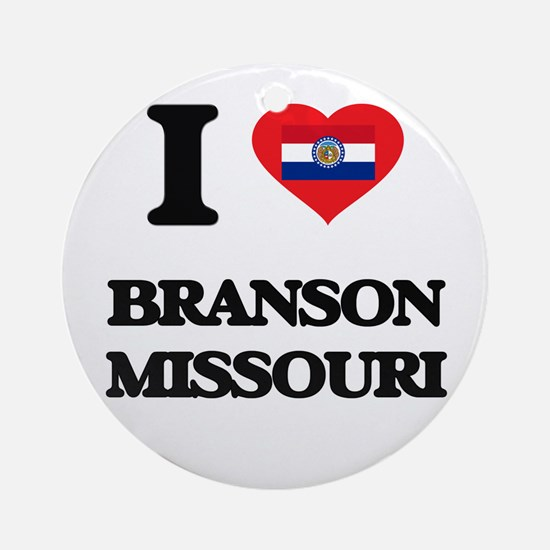I love Branson Missouri Ornament (Round)