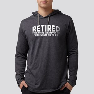 Retired Mens Hooded Shirt