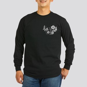 FLOWERS & BF 10/17 Long Sleeve Dark T-Shirt
