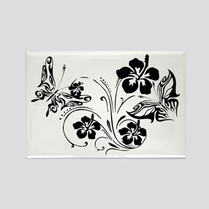 FLOWERS & BF 10/17 Rectangle Magnet