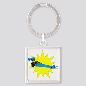 Blue Dragster Keychains