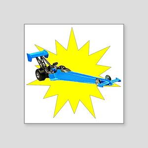 Blue Dragster Sticker