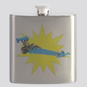 Blue Dragster Flask